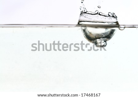 water splash close-up