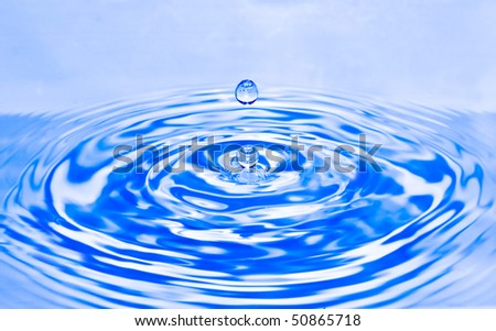 Water splash drop - stock photo