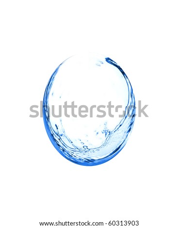 Water splash drop isolated on white background - stock photo