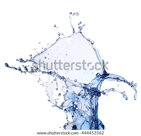 Water splash isolated in white background