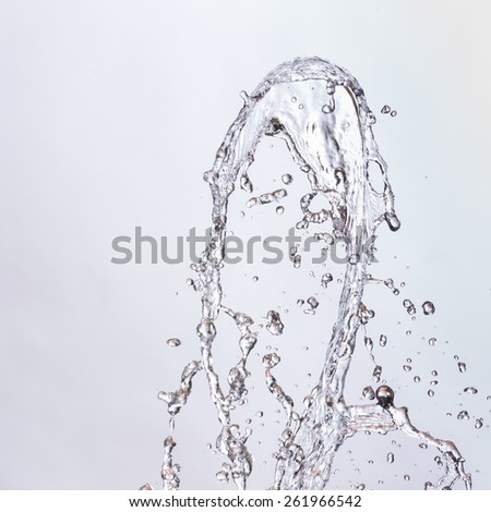 water splash isolated on background - stock photo