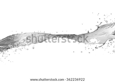 Water splash isolated on white.  water  splash of water forming   - stock photo