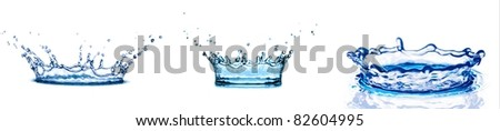 water splash on white background. - stock photo