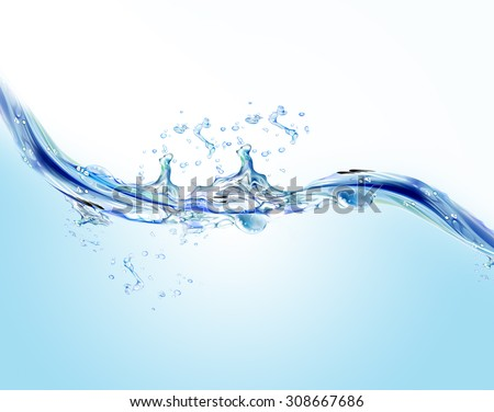 Water splashes - stock photo