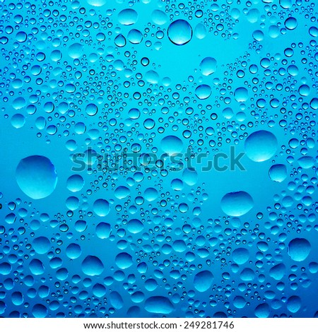 Water splashes, dark blue color - stock photo