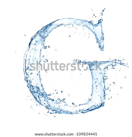 Water splashes letter g isolated on stock photo image royalty water splashes letter g isolated on white background altavistaventures Images