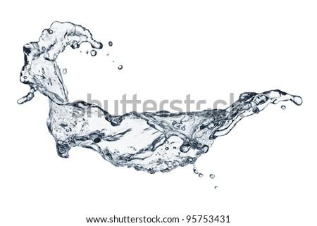 water splashing - stock photo