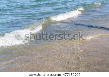 Water splashing the shore at the Black Sea