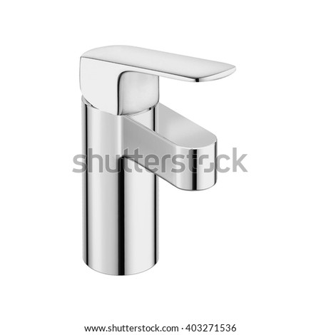 water-supply faucet - stock photo
