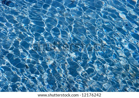 Water surface, shiny blue waves