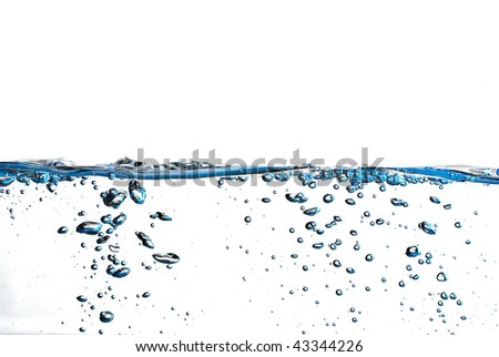 water surface with a  white background