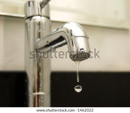 Water tap closeup - stock photo