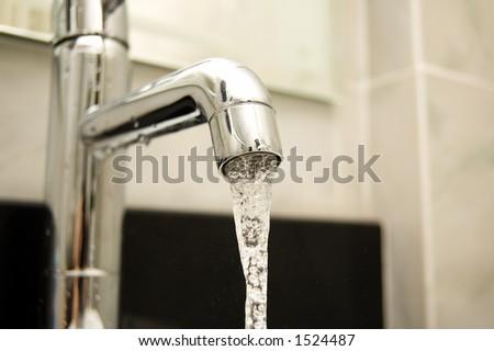 Water tap closeup - stock photo