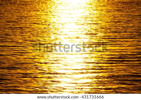 Water texture background,water in Lake reflective sunset:Close up,select focus with shallow depth of field:ideal use for background - stock photo