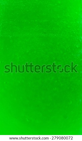 water texture on green background - stock photo