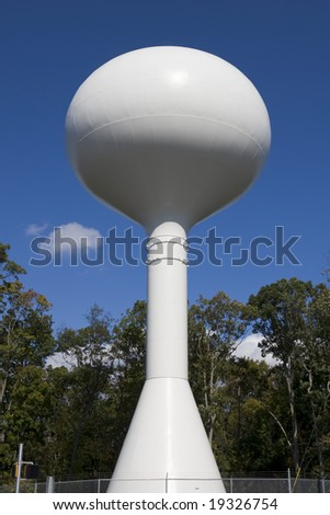 Water tower. - stock photo