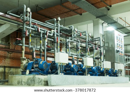 water treatment plant piping