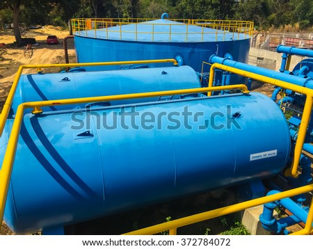 Several diving boards swimming pool stock photo 400628791 - Swimming pool water treatment plant ...