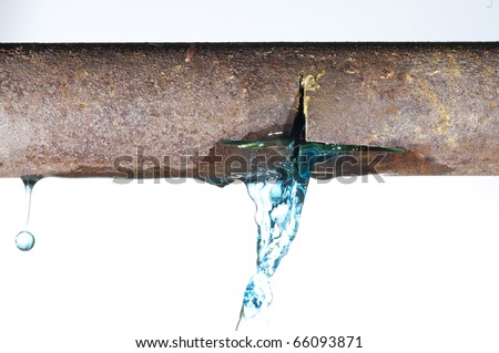 Water tube of the durst - stock photo