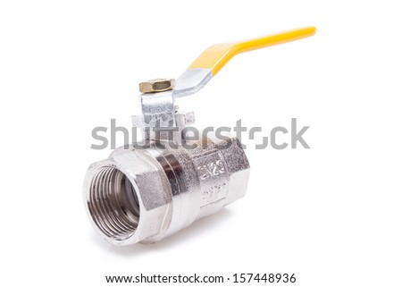 Water valve isolated on white background - stock photo