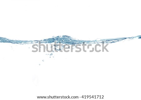 Water,water splash isolated on white background