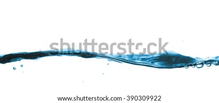 Water wave isolated on white background