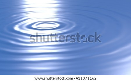 water wave ripples 3d inllustration - stock photo