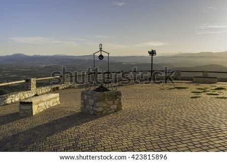 Water well on viewpoint of the chapel of Santa Lucia (Alcossebre, Castellon - Spain).