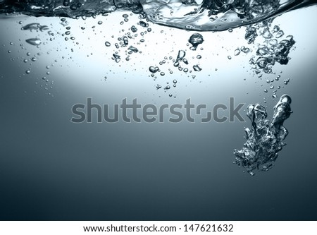 water with bubbles
