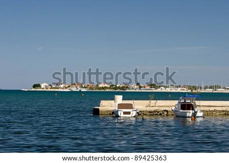 Waterbank in Sukosan - stock photo