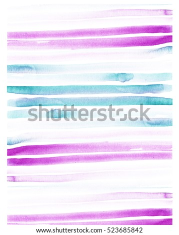 Watercolor abstract background line pink, blue
