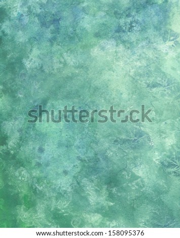 Watercolor abstract green paper background texture - stock photo