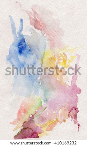 watercolor abstract runrise clouds background
