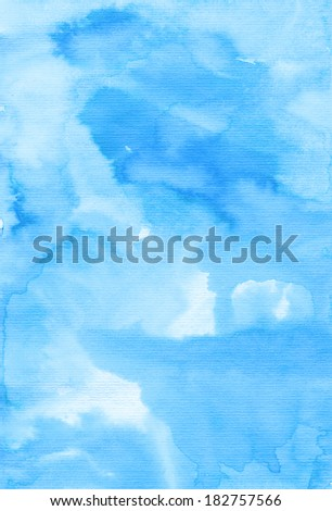 Watercolor background. Abstract hand painted grunge background - stock photo