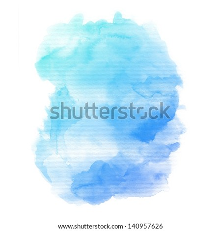 Watercolor background. colorful Abstract water color art hand paint - stock photo