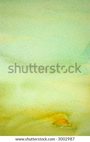 Watercolor background hand painted on paper with visible brush strokes - stock photo