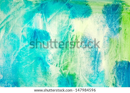 watercolor background in canvas with different textures - stock photo