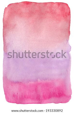 Watercolor background. Magenta, pink, lilac gradient. - stock photo