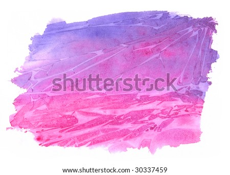 Watercolor backgrounds isolated on white background - stock photo
