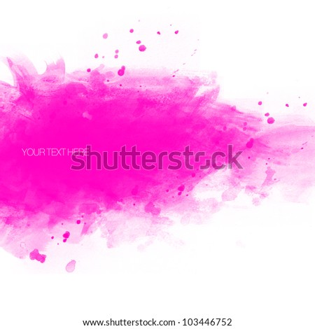 Watercolor banner with copy space - stock photo
