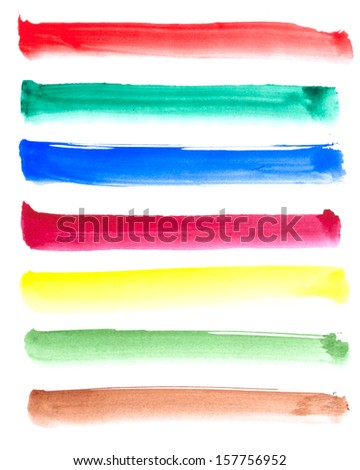 Watercolor banners, made myself - stock photo