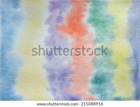 watercolor bleed background - stock photo