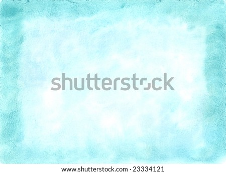 Watercolor blue crystal background - stock photo