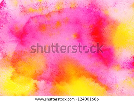 Watercolor bright abstract background - stock photo