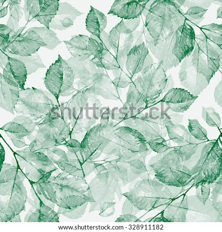 Watercolor bright wonderful  leaves seamless pattern Z. Wonderful print of a watercolor sketches by hand. Retro. Vintage. Toned. - stock photo