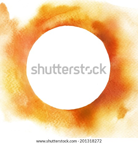 Watercolor circle frame background - stock photo