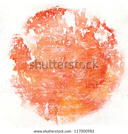 Watercolor circle shape background - stock photo