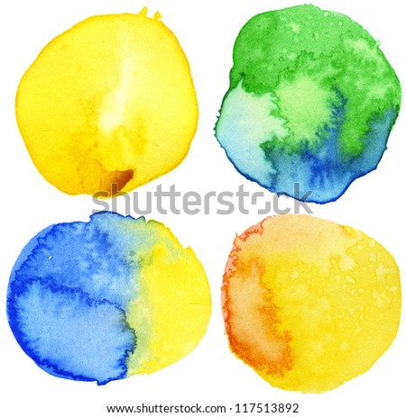 Watercolor circle shape backgrounds - stock photo