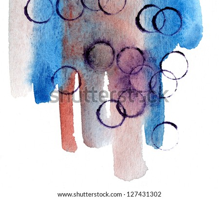 watercolor colorful background - stock photo