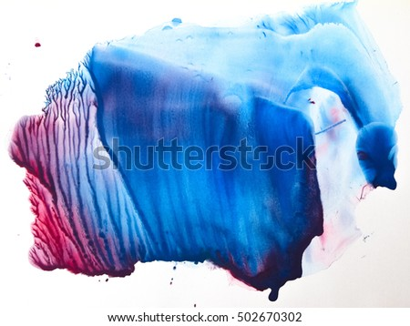 Watercolor colorful splash isolated on white background